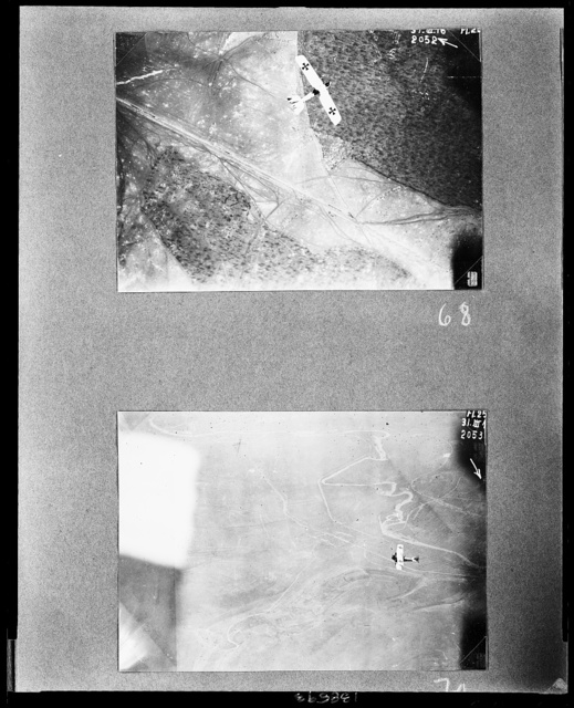 Mein Grosskampfflugzeug G. 49 in 2500 m. Höhe über der feindlichen Stellung nördlich Verdun
