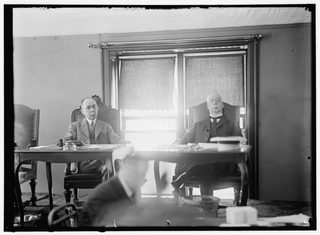MELLEN, CHARLES SANGER. RAILROAD PRESIDENT. RIGHT, WITH C.C. McCHORD