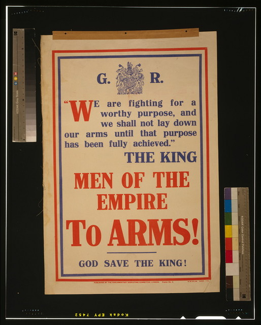 Men of the empire to arms! God save the king! / H.W. & V., Ld.
