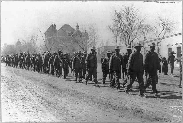 [Mexican War, 1914: Rebel infantry column]
