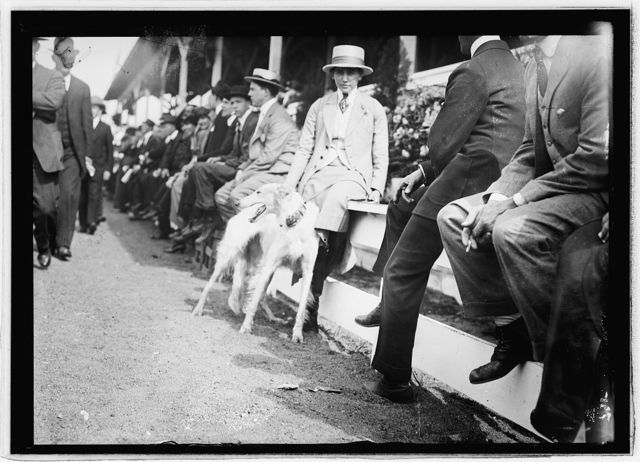 Miss Helen Morton of Chicago, Wash. Horse Show, 1914