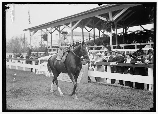 MORTON, MISS HELEN. HORSE SHOW.