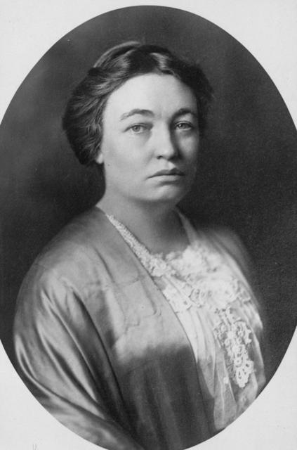 Mrs. Mary Austin, of California, the noted writer, [is] a prominent member of the National Advisory Council of the Congressional Union for Woman Suffrage.  She is a graduate of Blackburn University where she received the degree of A.B.