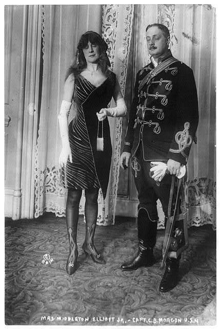 Mrs. Middleton Elliot, Jr. and Capt. C.B. Morgan, U.S.N.