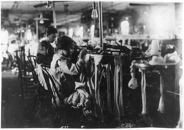 "[Nannie Coleson, looper who said she was 11 years old, and has been working in the Crescent Hosiery Mill for some months. Makes about $3 a week. Has been through the 5th grade in school. She is bright, but unsophisticated. Told investigator, ""There are other little girls in the mill too. One of them, says she's 13, but she doesn't look any older than me.""].  Location: [Scotland Neck, North Carolina]"