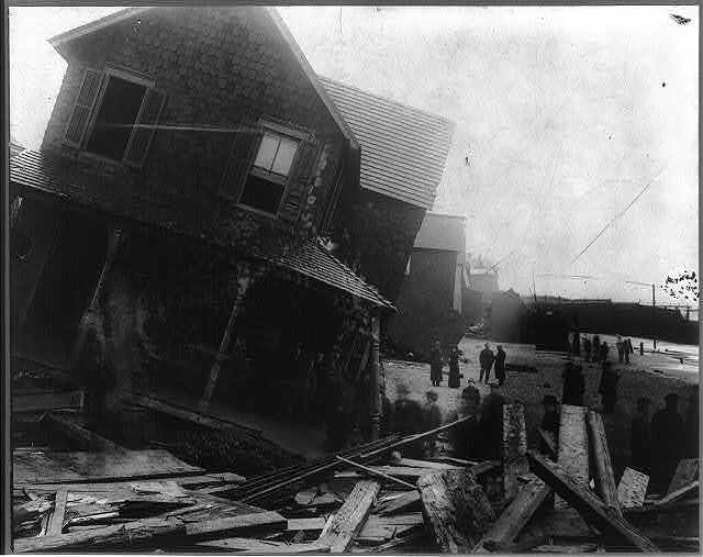 New Jersey, Sealbright. Wreckage after hurricane