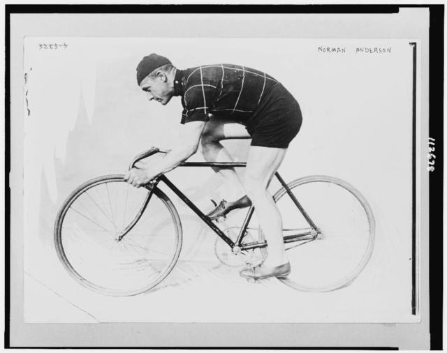 [Norman Anderson on a racing bicycle, Nov. 5, 1914]