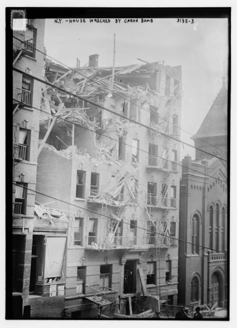 N.Y. house wrecked by Caron bomb