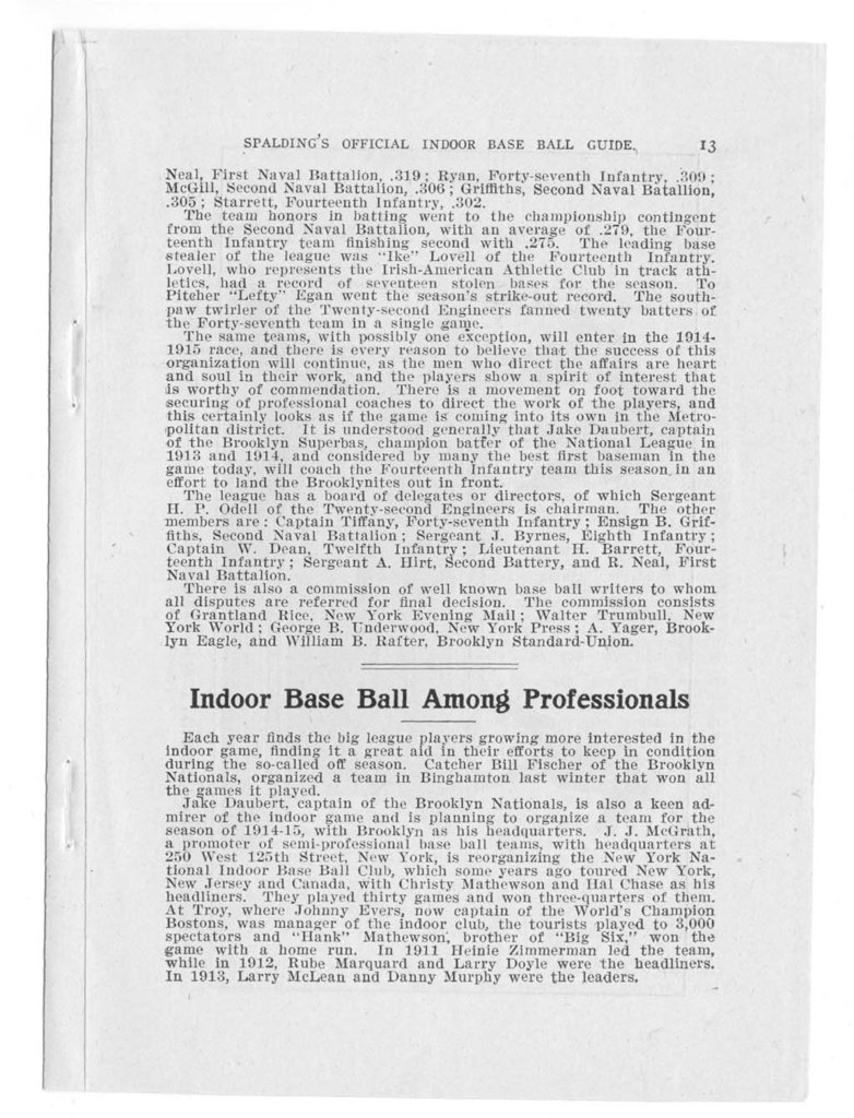 Official indoor base ball guide containing the constitution, 1914-1915