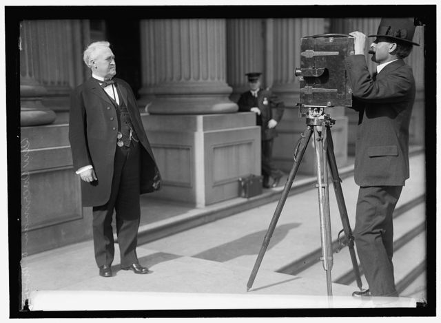 OVERMAN, LEE SLATER. SENATOR FROM NORTH CAROLINA, 1903-1933. BEFORE MOVIE CAMERA