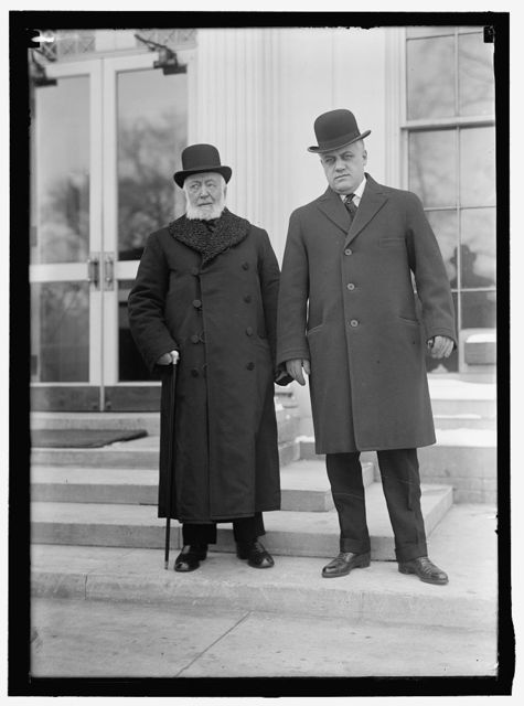 PALMER, ALEXANDER MITCHELL. REP. FROM PENNSYLVANIA, 1909-1915; ALIEN PROP. CUST. 1917- 1919; ATTORNEY GENERAL, 1919-1921. RIGHT, WITH R. B. DIXON