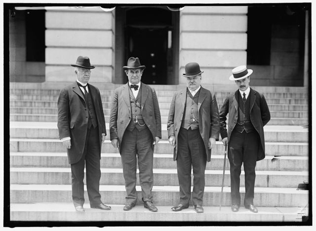 PAN AMERICAN CONGRESS. 5TH AT SANTIAGO, CHILE. U.S. DELEGATION: JOSEPH R. LAMAR; W.J. BRYAN; F.W. LEHMANN; H. PERCIVAL DODGE