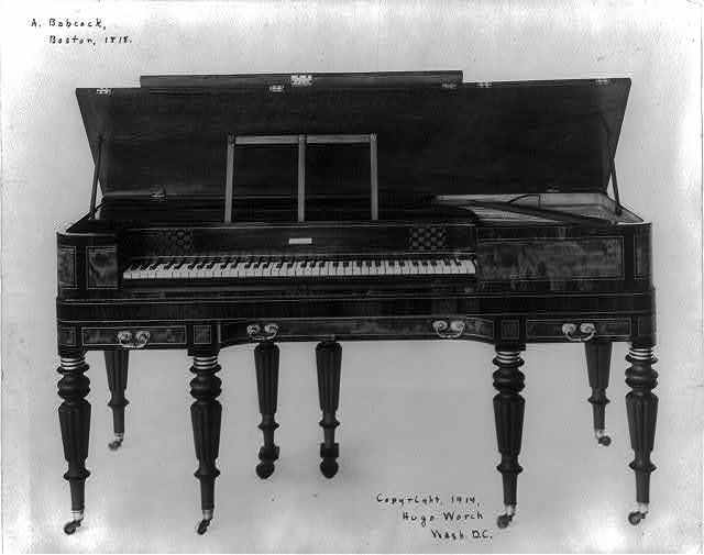 [Piano built by A. Babcock, Boston, 1818]