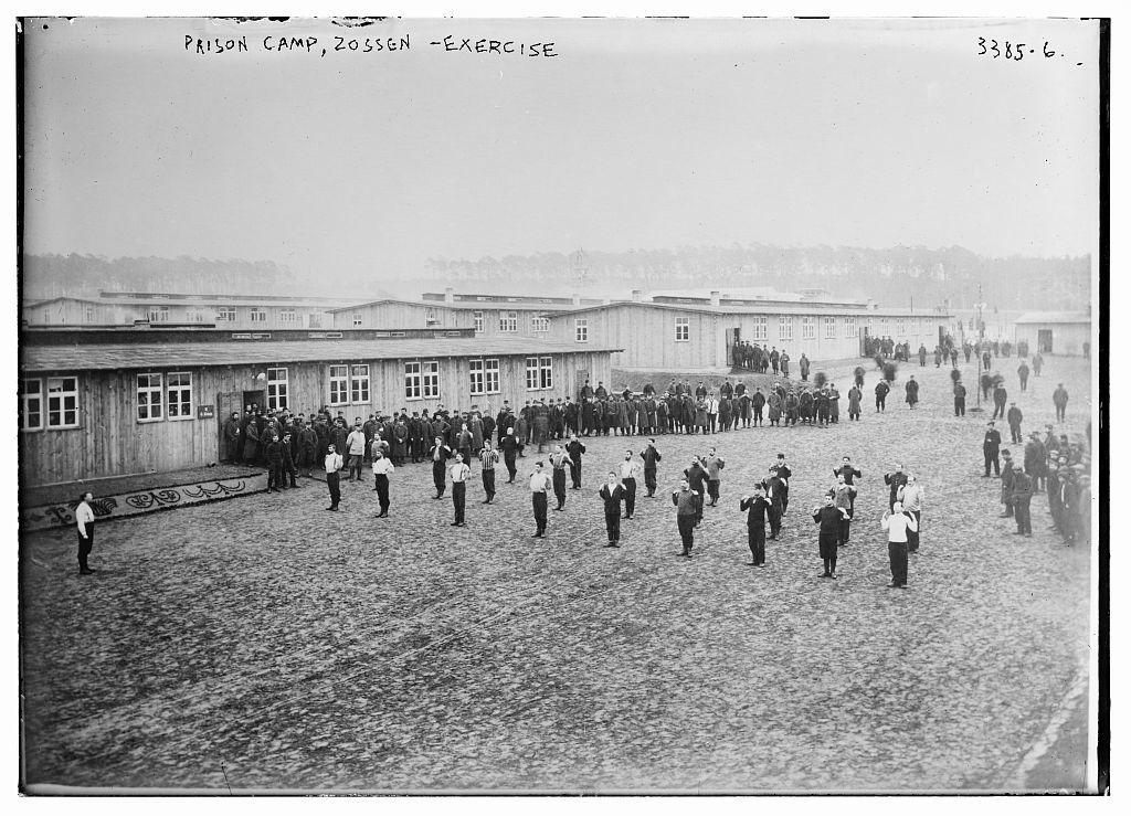 Prison camp, Zossen -- exercise