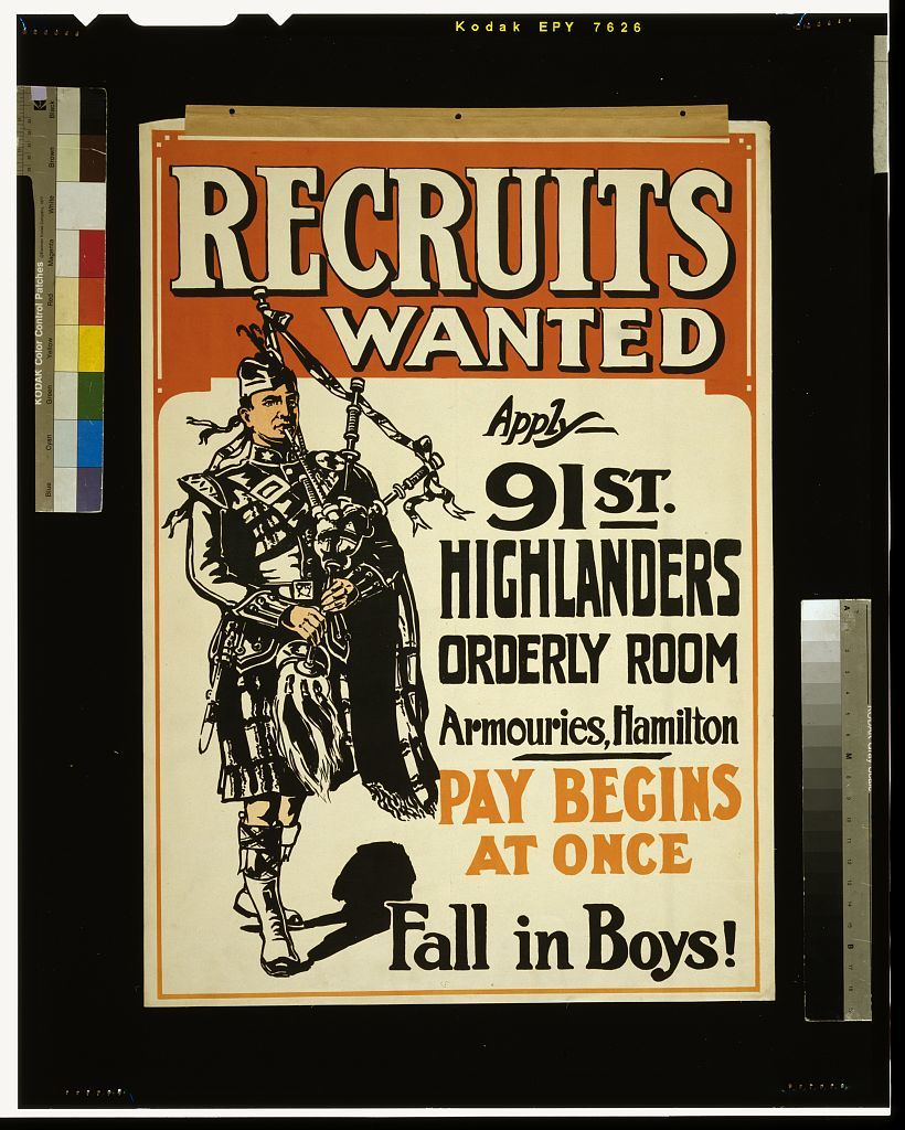 Recruits wanted ... fall in boys!