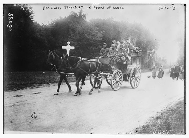 Red Cross Transport in Forest of Laigle (i.e., Laigne)