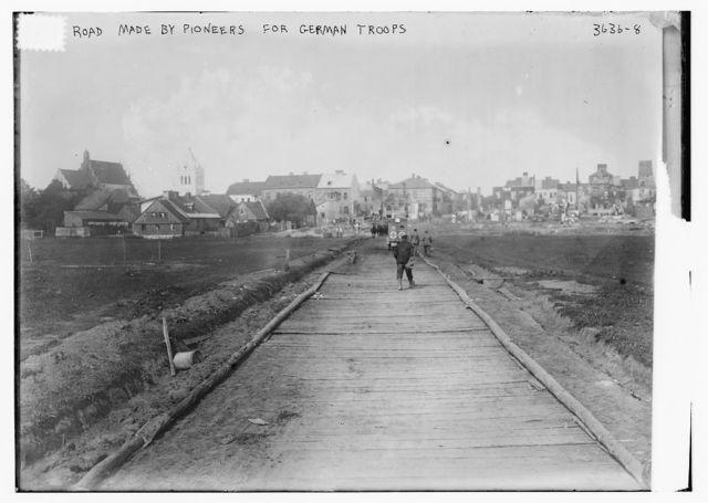 Road made by pioneers for German troops
