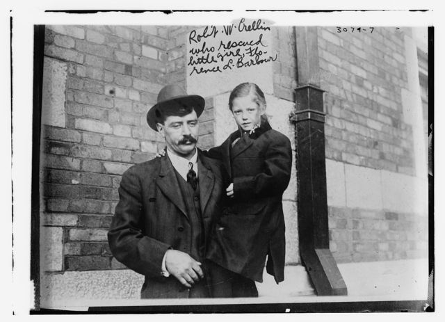 Robt. W. Crellin who rescued little girl, Florence L. Barbour