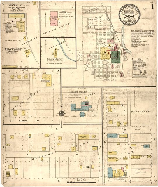Sanborn Fire Insurance Map from Basin, Big Horn County, Wyoming.