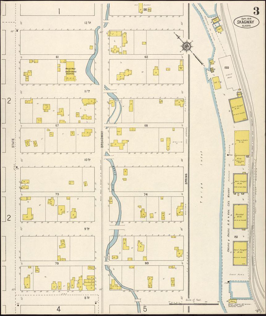 Sanborn Fire Insurance Map from Skagway, Skagway-yakutat ...