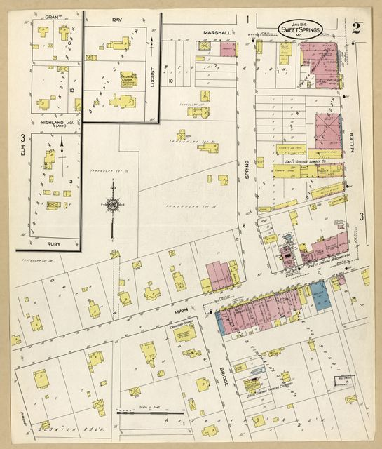 Sanborn Fire Insurance Map from Sweet Springs, Saline County, Missouri.