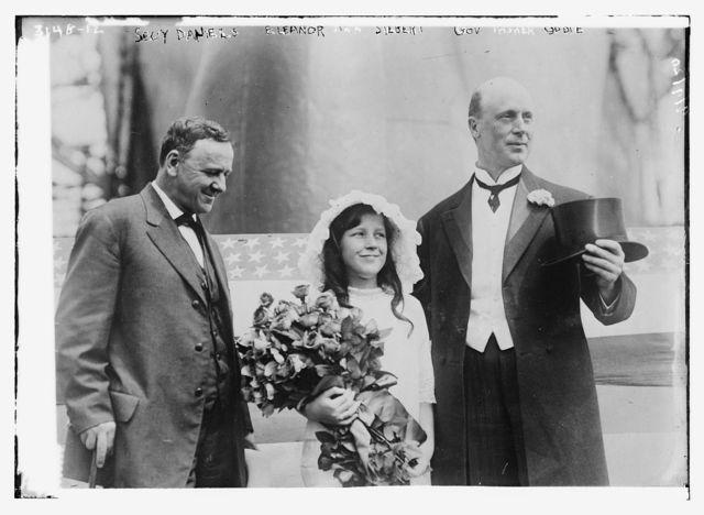 Secy Daniels, Eleanor Siebert [and] Gov. Oddie