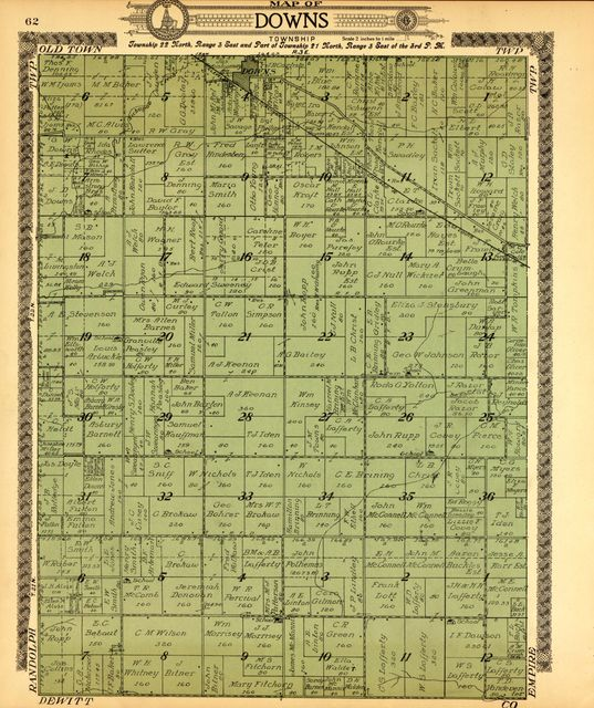 Standard atlas of McLean County, Illinois, including a plat book of the villages, cities and townships of the county.