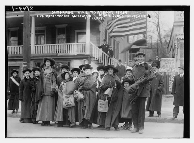Suffrage hike to Albany, 1/1/14