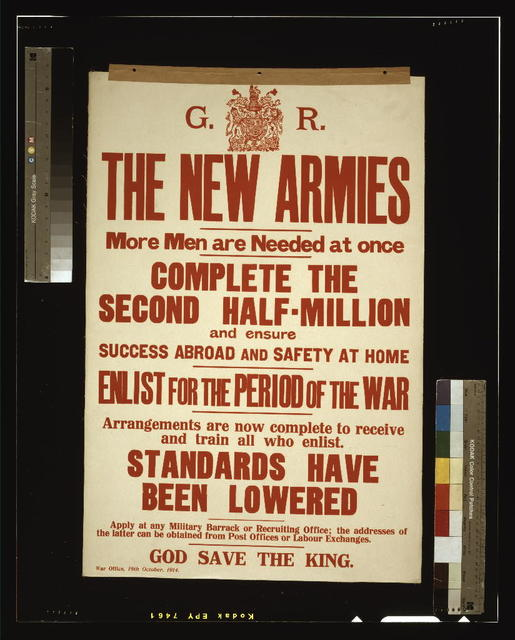 The new armies. More men are needed at once. Complete the second half-million and ensure success abroad and safety at home. [...]