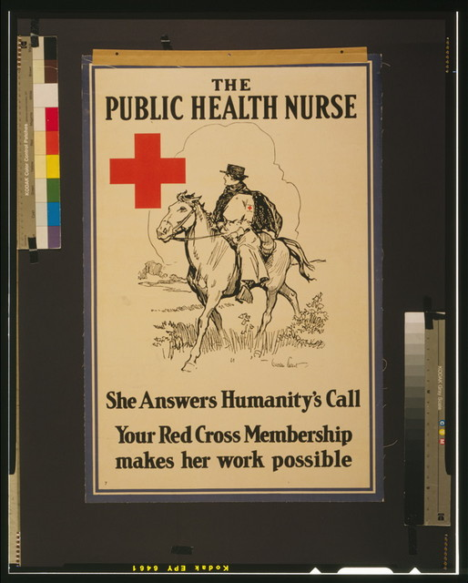The Public Health Nurse She answers humanity's call : Your Red Cross membership makes her work possible / / Gordon Grant.