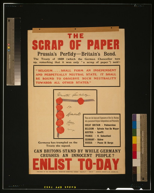The scrap of paper - Prussia's perfidy - Britain's bond [...] Enlist to-day / Hanbury, Tomsett & Co., London, N.W.