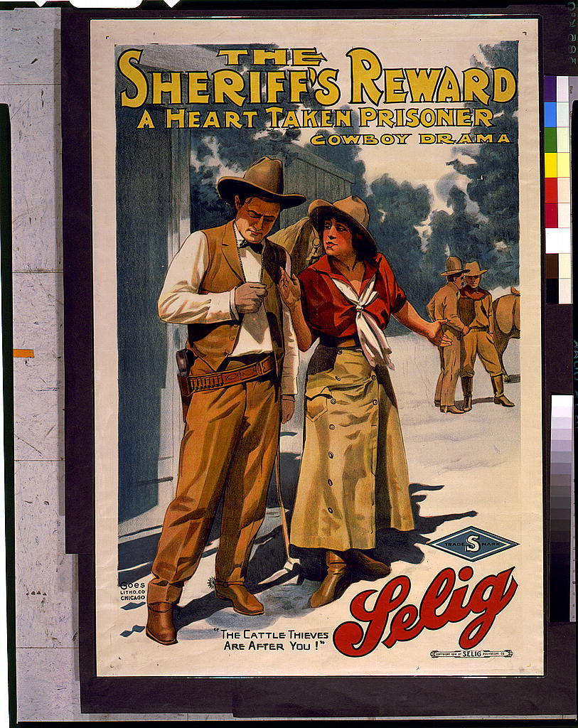 The Sheriff's reward A heart taken prisoner : Cowboy drama / / Goes Litho. Co., Chicago.