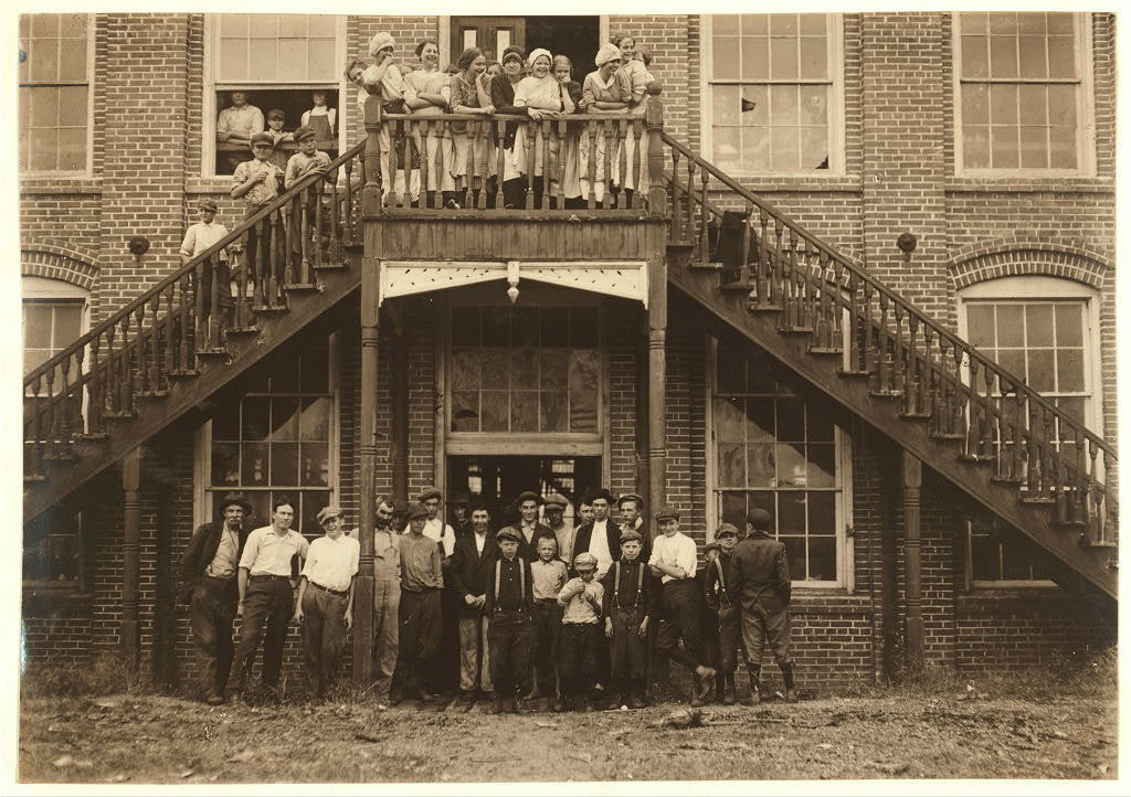Tolar, Hart and Holt Mills. All the children went in when the whistle blew, and I saw most of them at work the next day when I went through the spinning room at 10 A.M. Some of them are surely under 12 years old.  Location: Fayetteville, North Carolina.