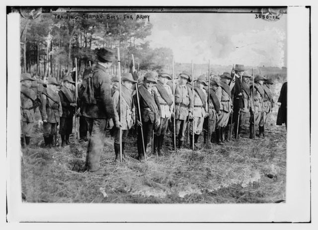 Training German boys for army