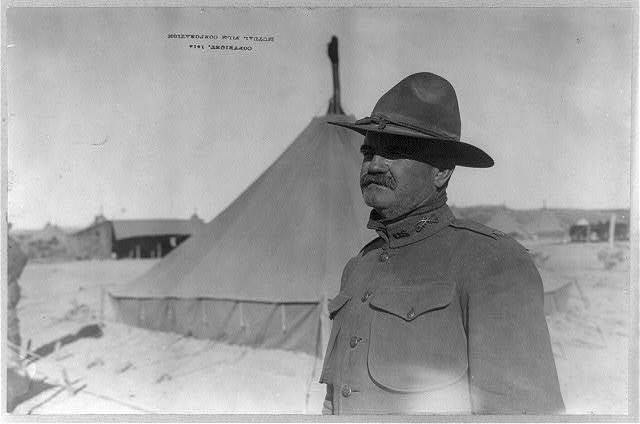 [U.S. Army tent camp in Mexico, 1914: U.S. 15th Cavalry officer; head and shoulders]