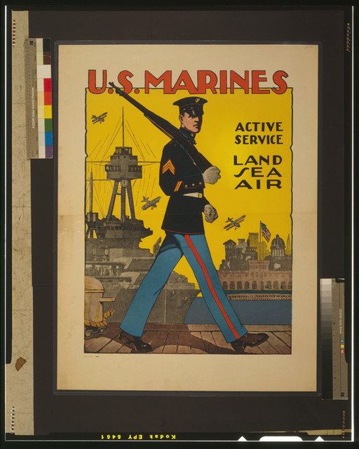U.S. Marines - active service - land, sea, air