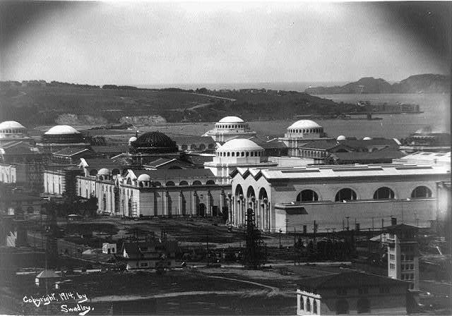 View from the Golden Gate on Russian Hill at the Panama-Pacific International Exposition in San Francisco