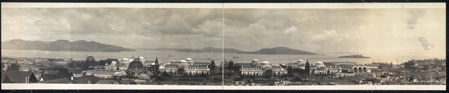 [View of the Panama-Pacific International Exposition grounds]