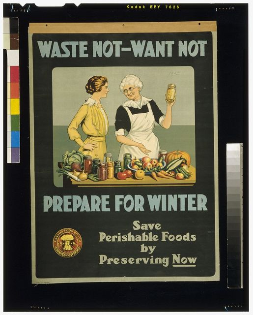 Waste not, want not - prepare for winter