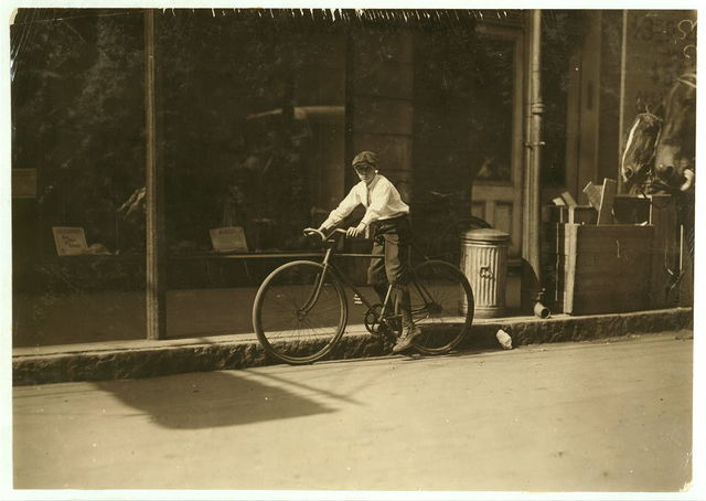 Willie Roberts 11 year old delivery boy in Reiss Department Store.  Location: Mobile, Alabama.