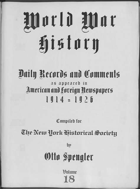 World War history : daily records and comments as appeared in American and foreign newspapers, 1914-1926 (New York), September 17, 1914, (1914 September 17-20)