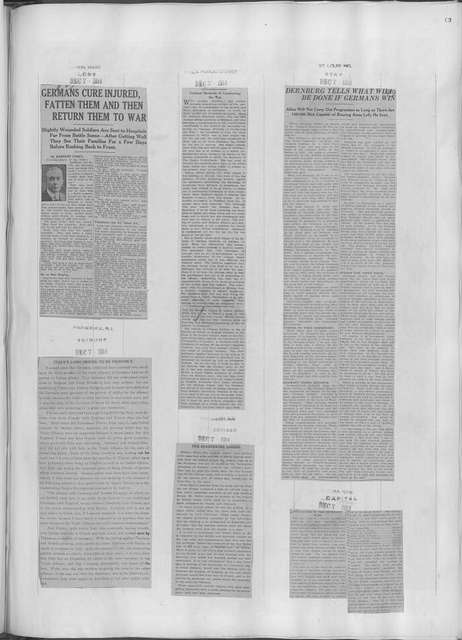 World War history : daily records and comments as appeared in American and foreign newspapers, 1914-1926 (New York), December 6, 1914, (1914 December 6- 10)