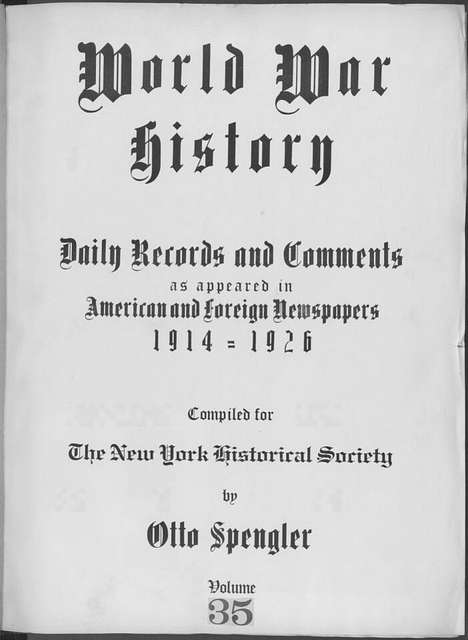 World War history : daily records and comments as appeared in American and foreign newspapers, 1914-1926 (New York), November 22, 1914, (1914 November 22-24)