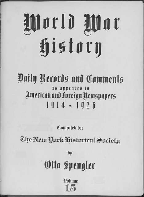 World War history : daily records and comments as appeared in American and foreign newspapers, 1914-1926 (New York), September 10, 1914, (1914 September 10-12)