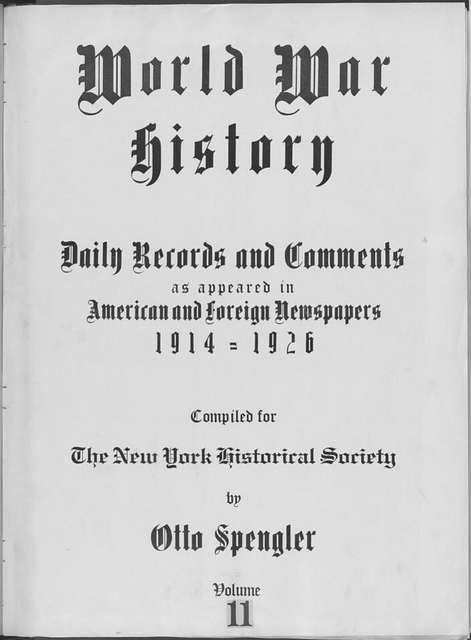 World War history : daily records and comments as appeared in American and foreign newspapers, 1914-1926 (New York), August 31, 1914, (1914 August 31-September 3)