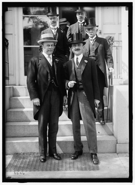 1ST PAN AMERICAN FINANCIAL CONFERENCE, WASHINGTON, D.C., MAY 1915. FRONT: ANDREW J. PETERS, ASST. SECRETARY OF THE TREASURY; DR. LEO S. ROWE