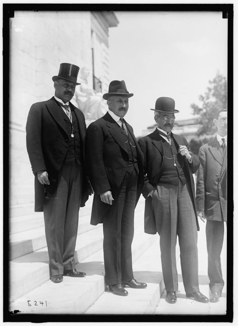 1ST PAN AMERICAN FINANCIAL CONFERENCE, WASHINGTON, D.C., MAY 1915. JUAN S. LORD; CARLOS HERRERA; VICTOR S. ICARA, GUATEMALAN DELEGATION