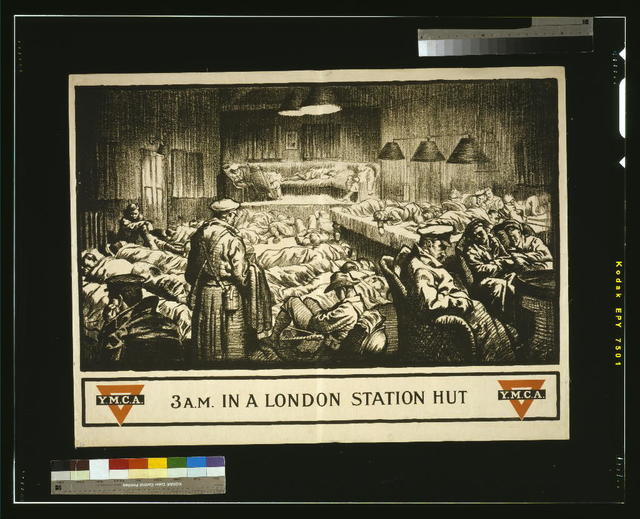 3 A.M. in a London station hut