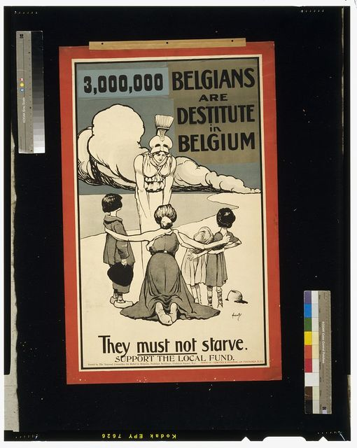 3,000,000 Belgians are destitute in Belgium. They must not starve. Support the local fund / Hassall.