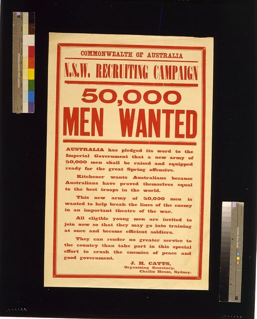 50,000 men wanted